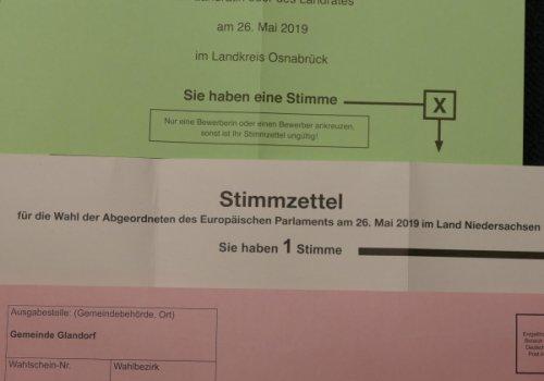 Wahlergebnisse der Gemeinde Glandorf