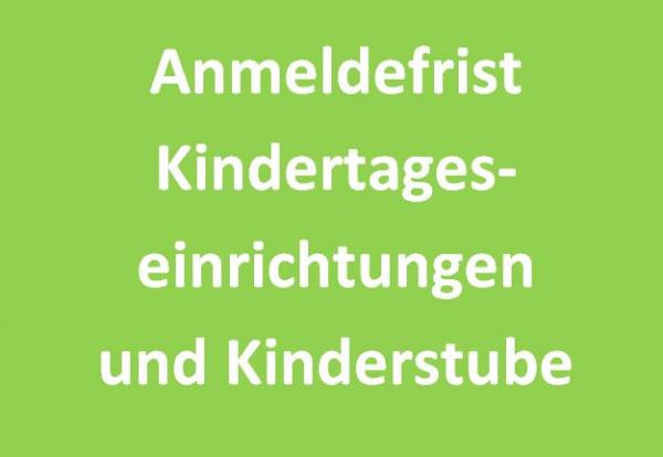 Bekanntgabe der Anmeldefristen für alle Glandorfer Kindertageseinrichtungen (inkl. der Kinderstube am Sandknapp)